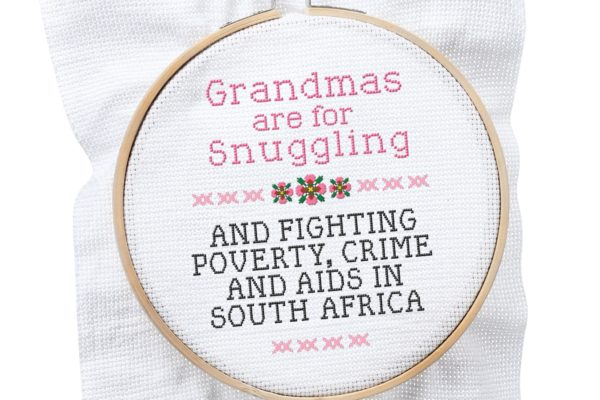 grandmother power crossstitch