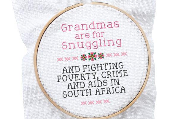 grandmother power crossstitch