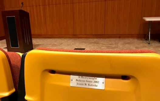 auditorium chair plaque