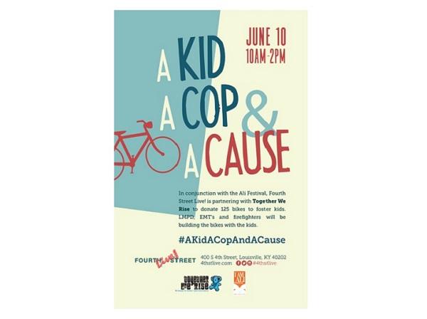 A kid cop a cause