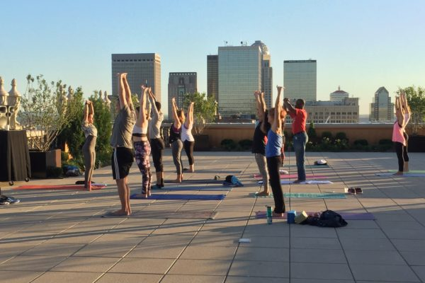 Brown Hotel rooftop yoga