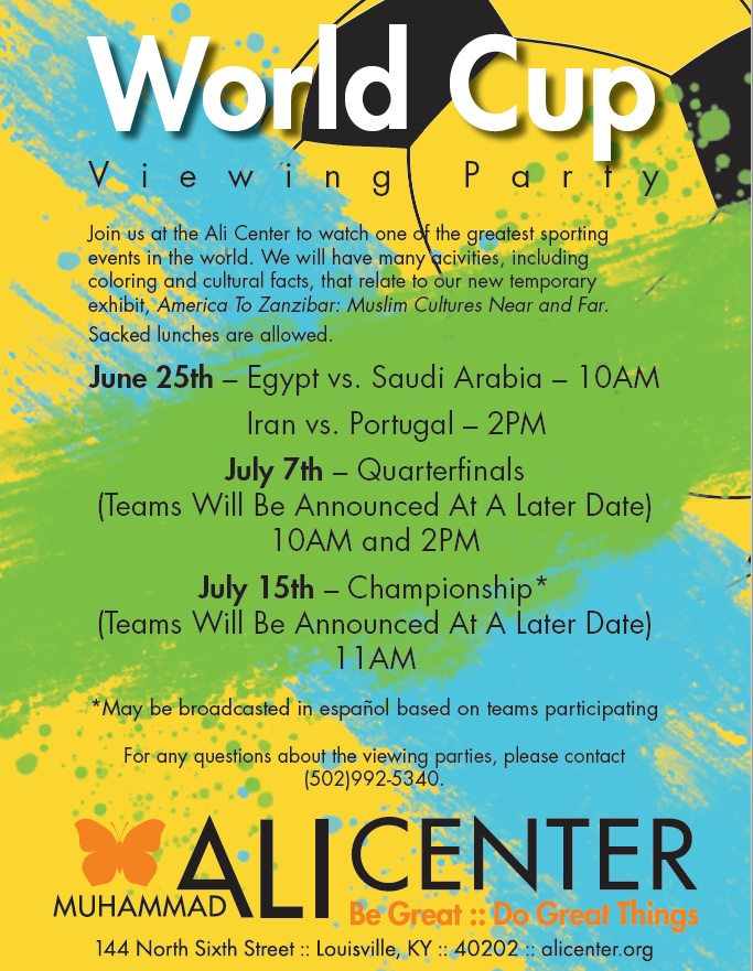 world cup viewing party flyer