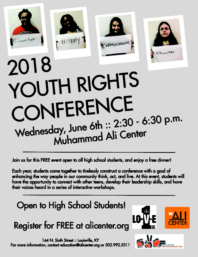 youth rights conference flyer
