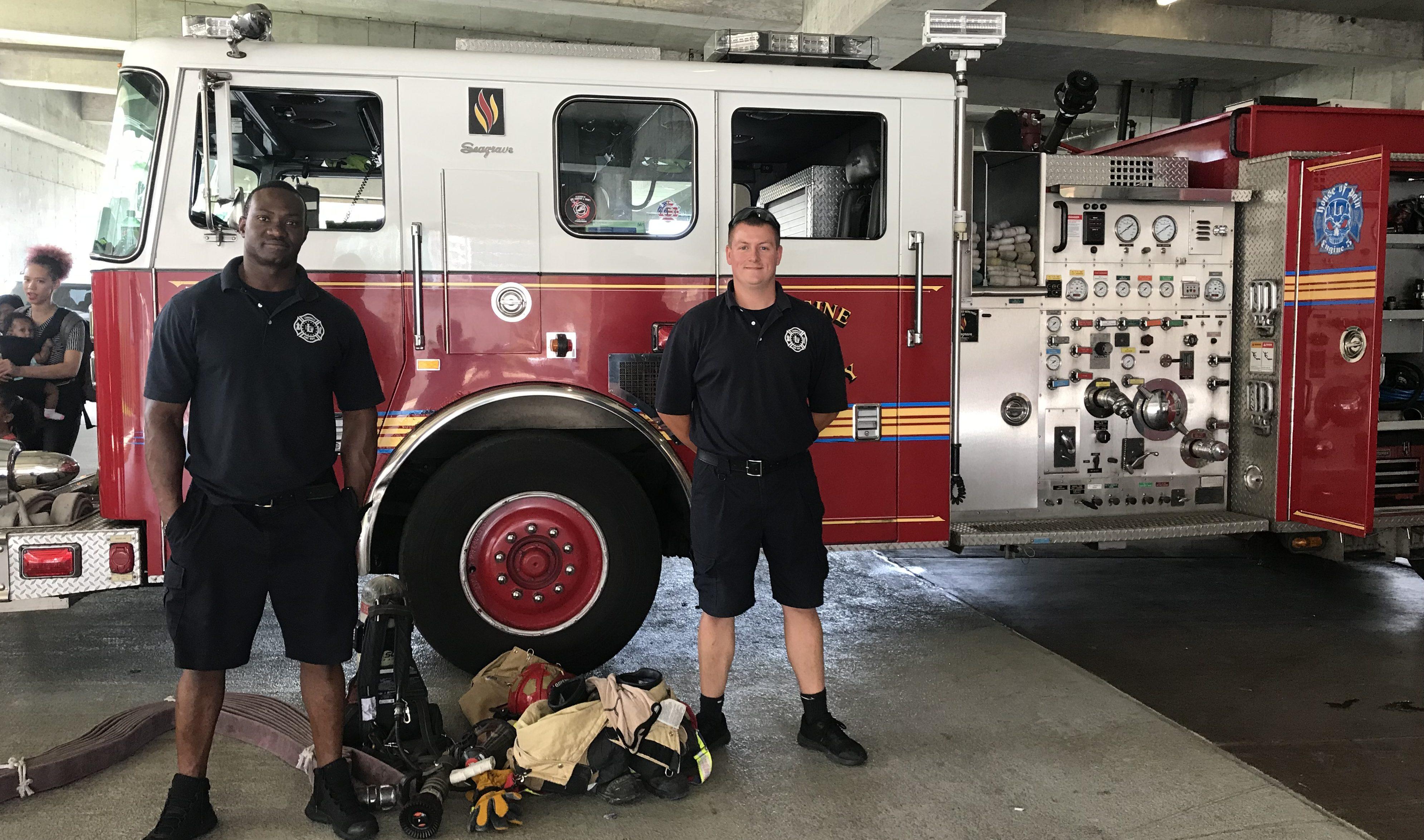 Firemen and their Firetruck