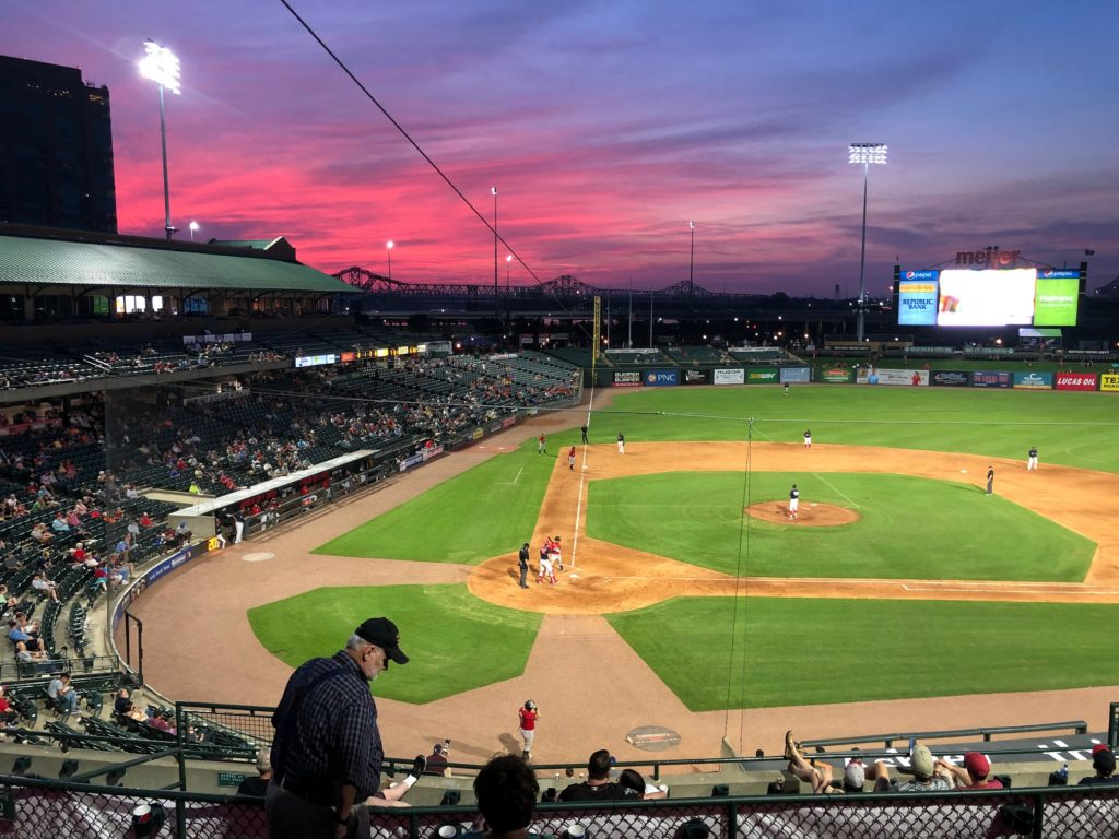 Sunset at the Louisville Bats Game